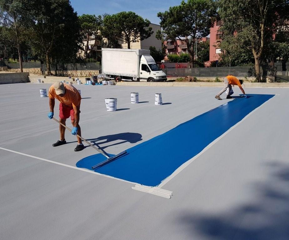 campo da tennis in resina